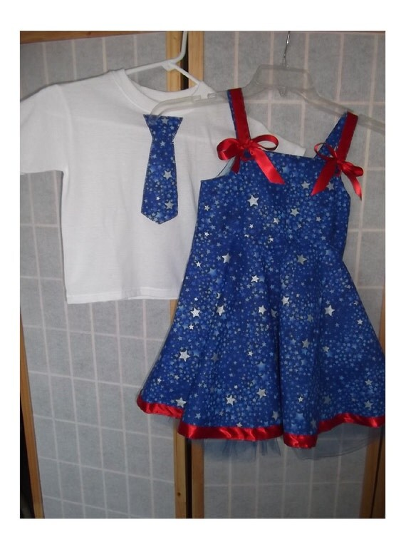 dancing with stars ballerina dress 3-4T and matching brothers shirt