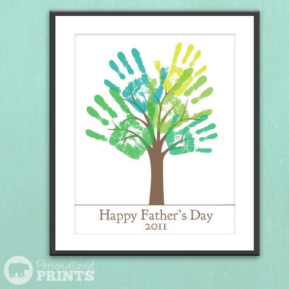 DIY Child's Handprint Tree - Printable PDF Father's Day Gift Poster