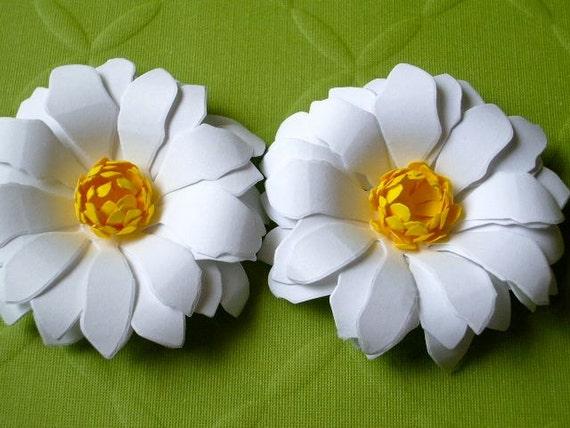 The Daisy Girl -  Handmade Paper Flower - set of 2