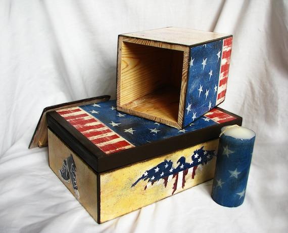 Decoraitve ящик для хранения Он приехал из Америки для пакетиков кофе и доставку worldwirde