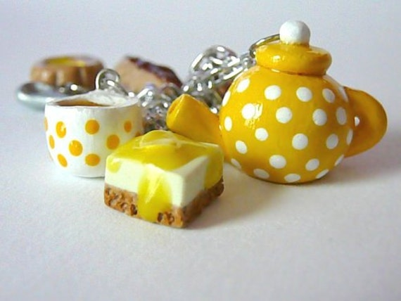 Time For Tea Charm Bracelet - Yellow