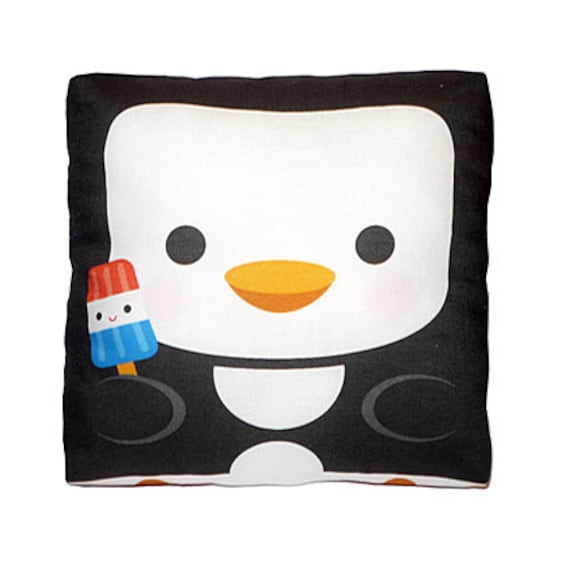 Mini Pillow - Happy Penguin