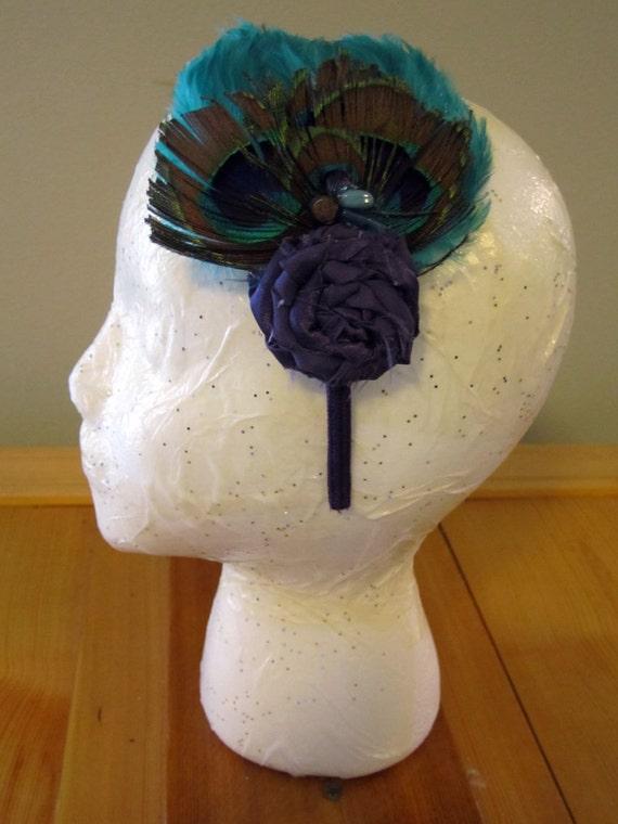 Mrs. Peacock - Feather Headband