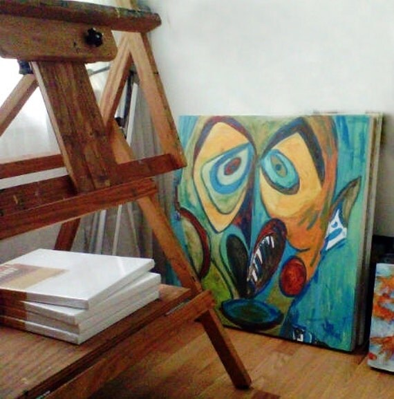 "African Art, Museum Inspired Painting 24X24"" Gallery Wrapped Canvas Special PRice for WORK in PROGRESS"