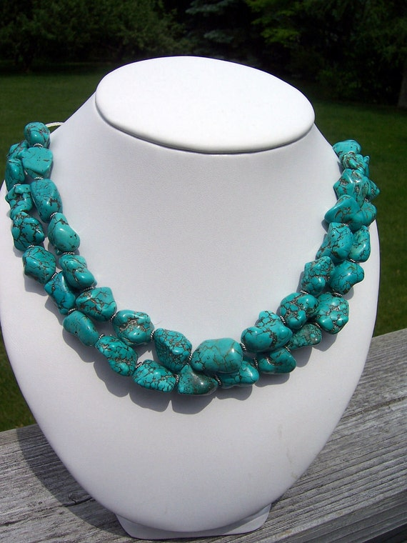 Megan Chunky Turquoise Necklace