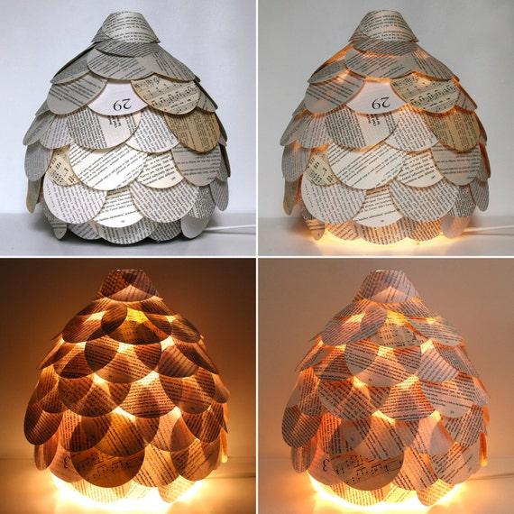 Смешанные странице книги Настольная лампа - Light бумажный фонарь