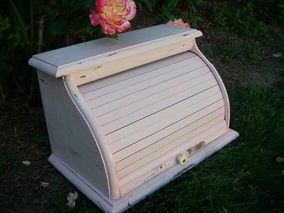 Pink Vintage Breadbox Shabby French Storage
