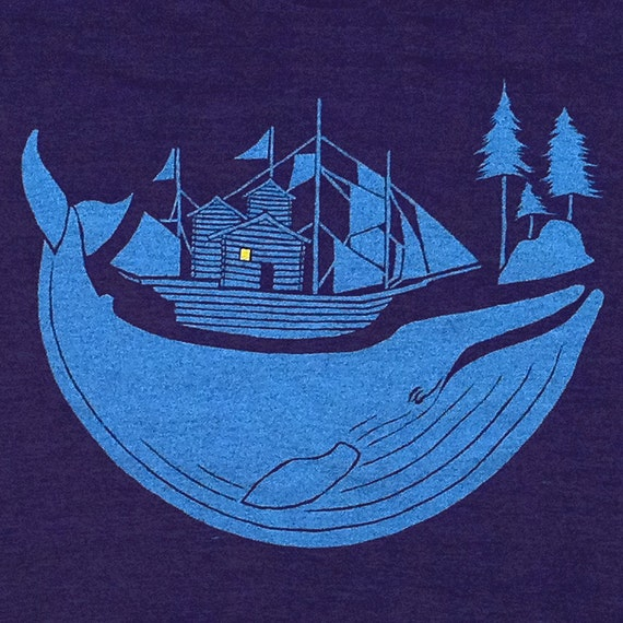 Blue Whale Tshirt by GNOME ENTERPRISES / athletic indigo / UNISEX