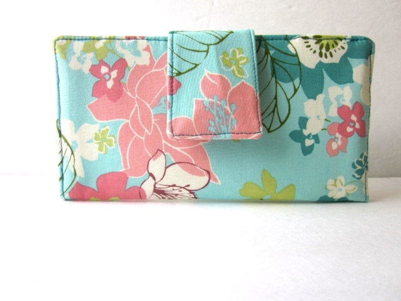 Handmade wallet spring blossom