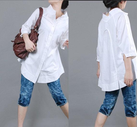 پیراهن سفید ساده