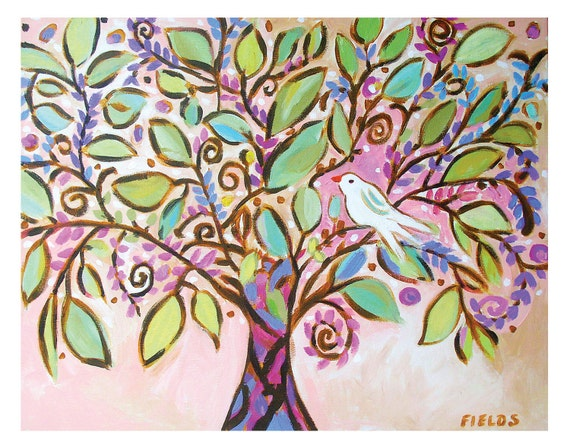 Lullaby Tree  -  Print 11 x 14 by Karen Fields