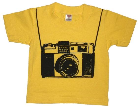 Baby Photographer Camera T Shirt For Toddlers NB, 6 mo, 12mo, 18mo, 24mo