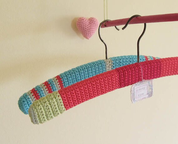 Baby Clothes Crocheted Woodden Hanger a Set of Two Treasury Pick on Etsy