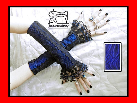 gothic cyber goth gloves arm warmers fingerless cuff harajuku queen of darkness lolita victorian steampunk corset style 0200