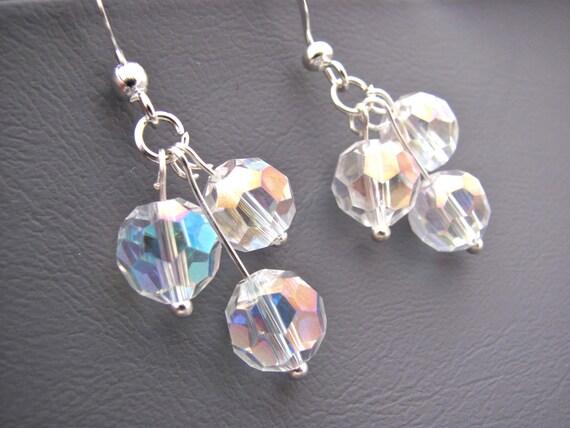 Disco Ball Shimmering Crystal Earrings