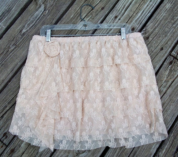 Veronica Skirt - Vintage Inspired Tiered Lace Skirt