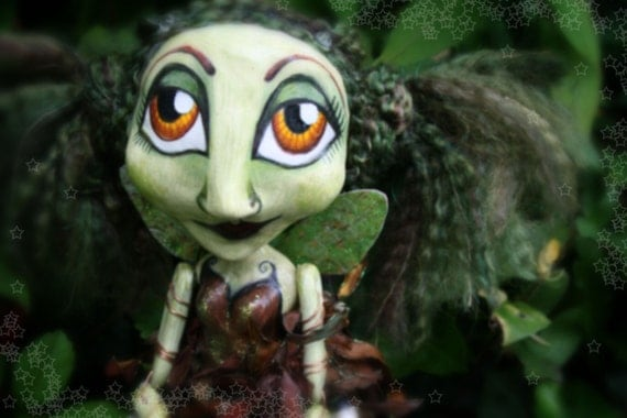 Special Item of the Day - Vera - Faerie of the Earth - OOAK Art Doll