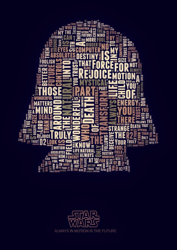 STAR WARS  Typography  Print poster canvas quotes famous phrases words cinema artwork home decor