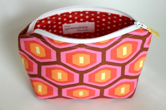 Zippered Pouch- hexagons