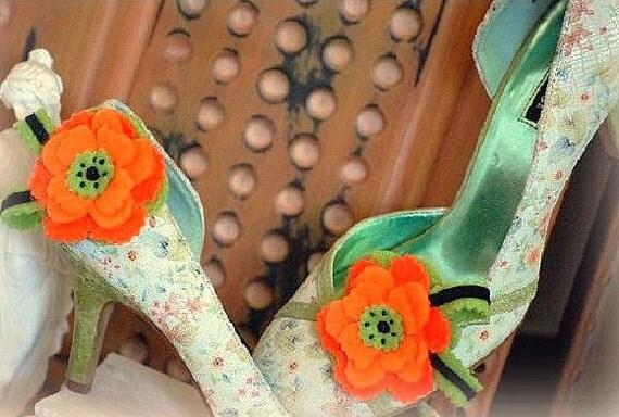 Shoe Clips Bright Autumn Fun Autumn Trends Bridal bride Princess Pageant M2M American Girl Doll Accessories Gymboree Girly Teen Sofisticata