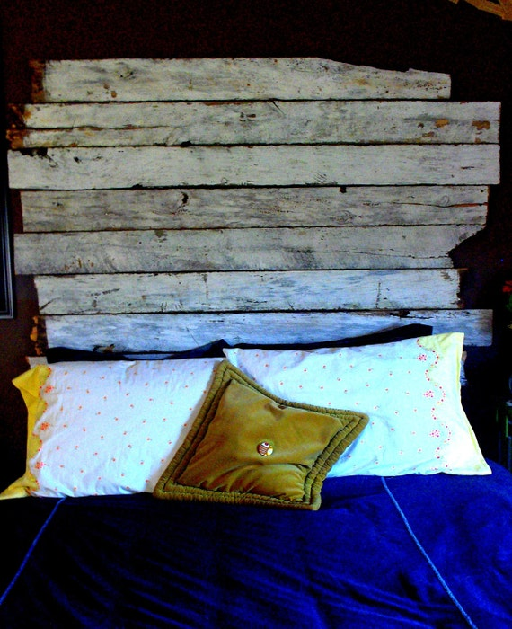 Reclaimed wood headboard - customized to your specifications.