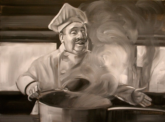 "Steam, oil paint on linen canvas, 18""x24""x.5"" inches by Kenney Mencher"