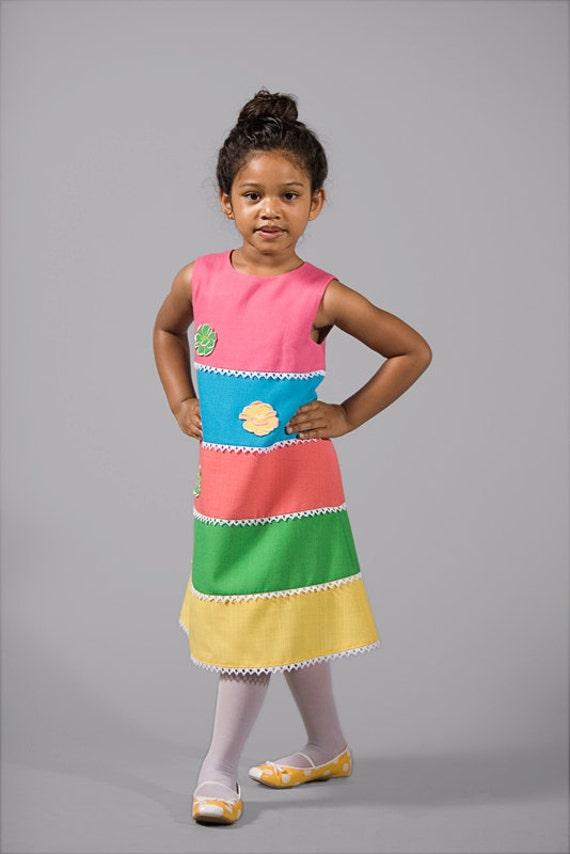Colorful Children Party Dress 5T- 6T