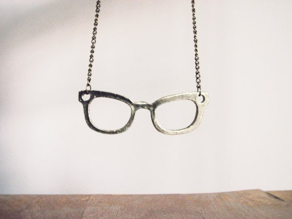 Brass Reading glasses Necklace