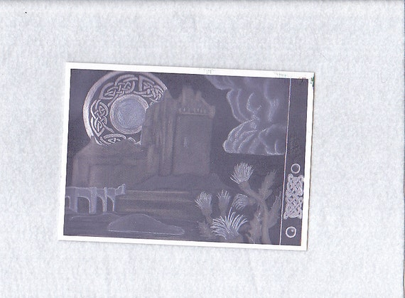 Celtic Moon 5x7 Gothic Greeting Card