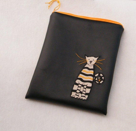 ipad case with cat applique from etsy
