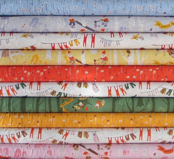 Heather Ross - Far, Far Away, Chapter 3 - Fat Quarter Bundle of 10 Snow White Prints