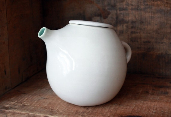 White Teapot for Two