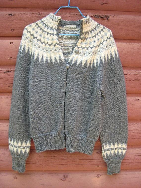 Vintage Handmade Wool Sweater by William Schmidt Co of Oslo Norway