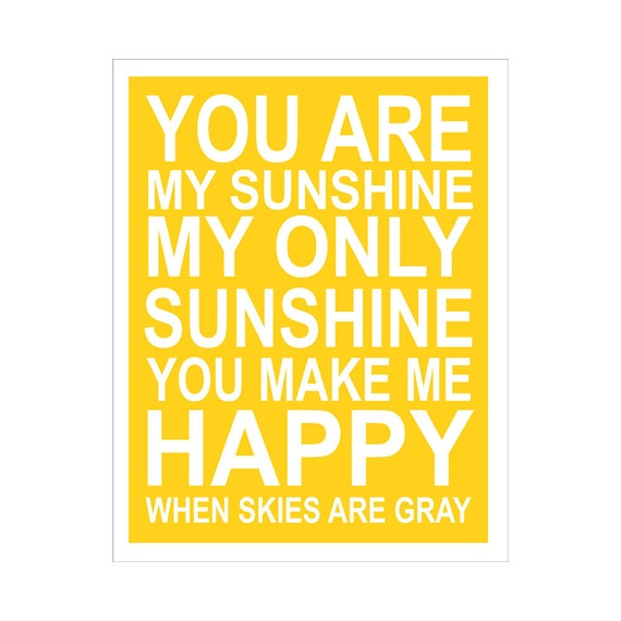 You Are My Sunshine... 11x14 inch print by Finny and Zook
