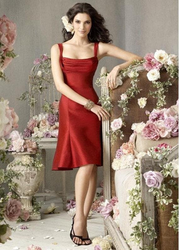 2011 جذاب قرمز چای طول مشتری فرستاده شده به طراحی لباس ساقدوش عروس