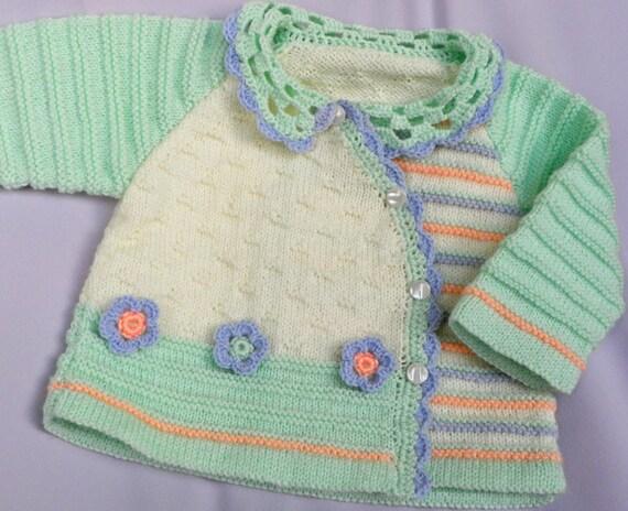 مقاله دست بافتنی ژاکت کش باف پشمی کودک را با گل crocheted