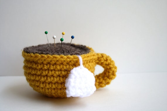Crochet Teacup - Golden Yellow