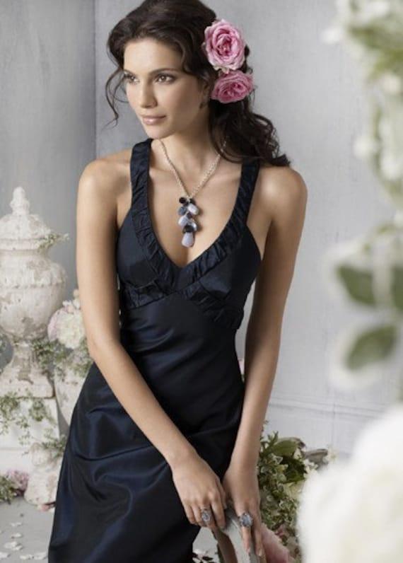 باور نکردنی فروش 2011 جلد طول چای مخلوط V - گردن مشتری فرستاده شده به طراحی لباس ساقدوش عروس