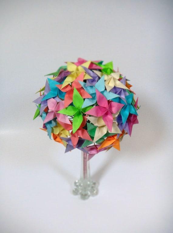 Rainbow Confetti - Origami Paper Flower Bouquet