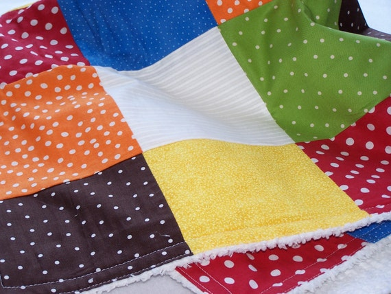 Baby Blanket Chenille Patchwork Quilt