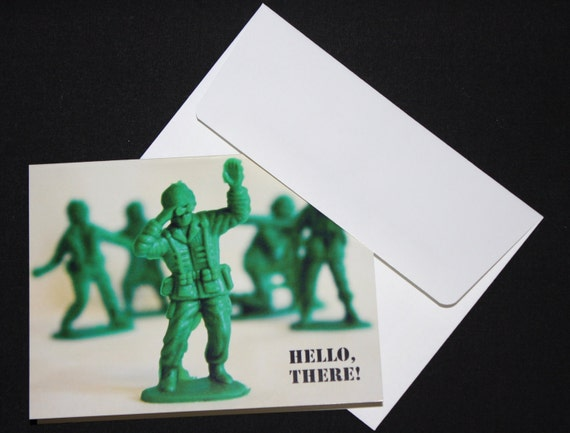 FREE Shipping Hello There Military Men Note Card Set of 8