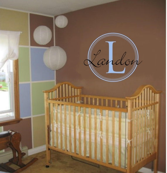 Personalized Circles Monogram Children Vinyl Wall Decal