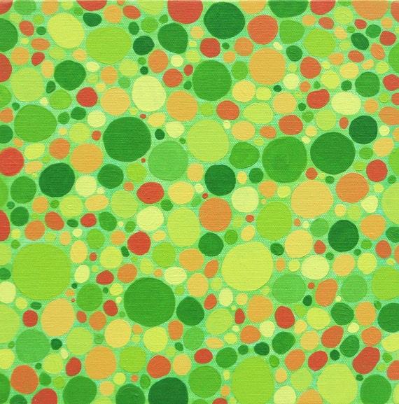 "Oringinal Art Painting 10""x10"", titled a ""Spot of Joy"""