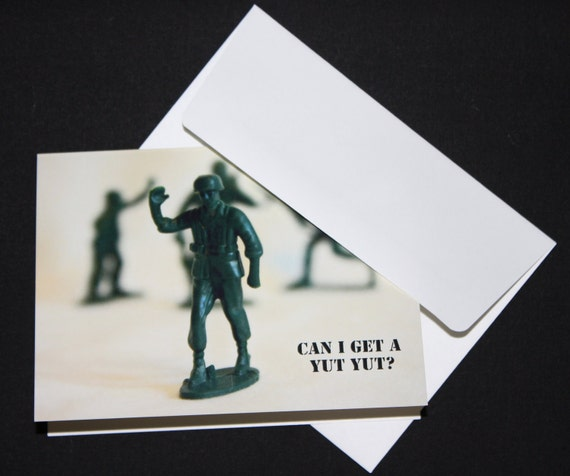 FREE Shipping Can I Get a Yut Yut Military Men Note Card