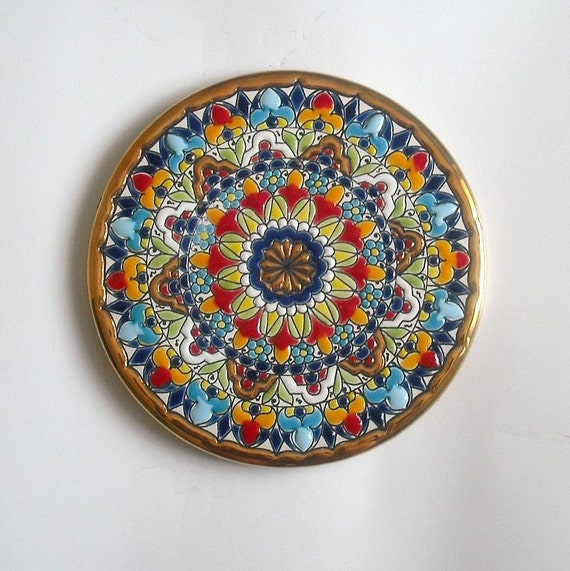 Decorative Handmade plate to hang in Wall - Medium