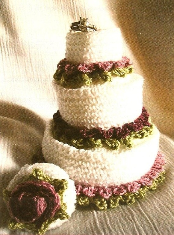 Crochet Miniature Wedding Cake Pattern Favor Ornament