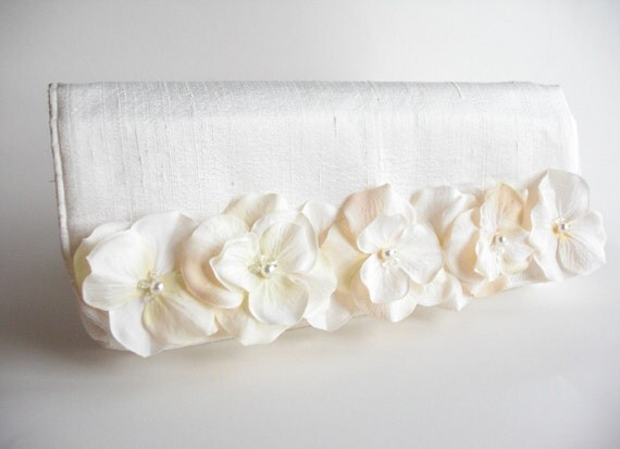 Blossom Spray Clutch bridal bag wedding accessories by keepbags from etsy.com