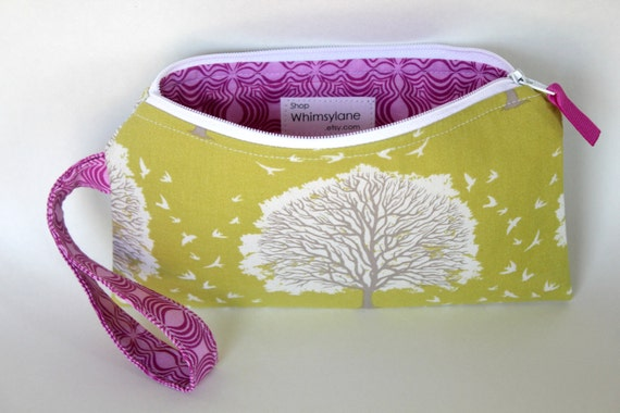 Wristlet Clutch- Golden Tree