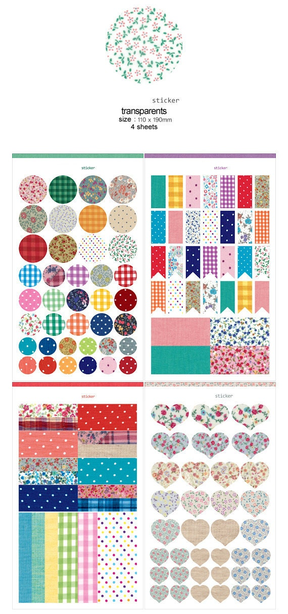 Kawaii Cute Adhesive Deco Sticker - Pattern Sticker