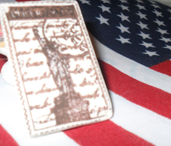LADY LIBERTY set of 2 tags by Kate Creative Salvage featured in a TREASURY